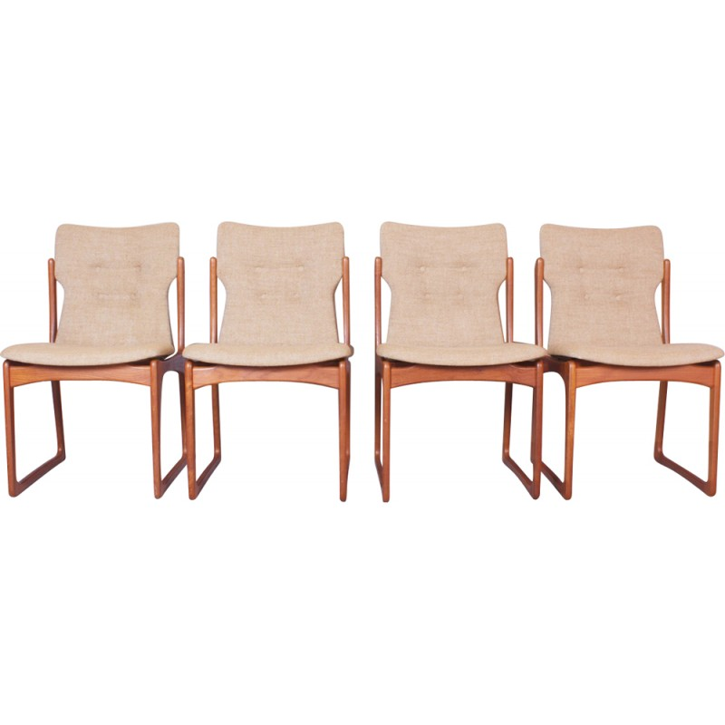 Magnificent Set Of 4 Vamdrup Stolefabrik Dining Chairs 1960S Beatyapartments Chair Design Images Beatyapartmentscom
