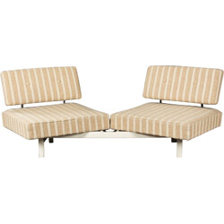 "Knoll ""Stella Magic"" sofa in cream fabric, Walter KNOLL - 1960s"