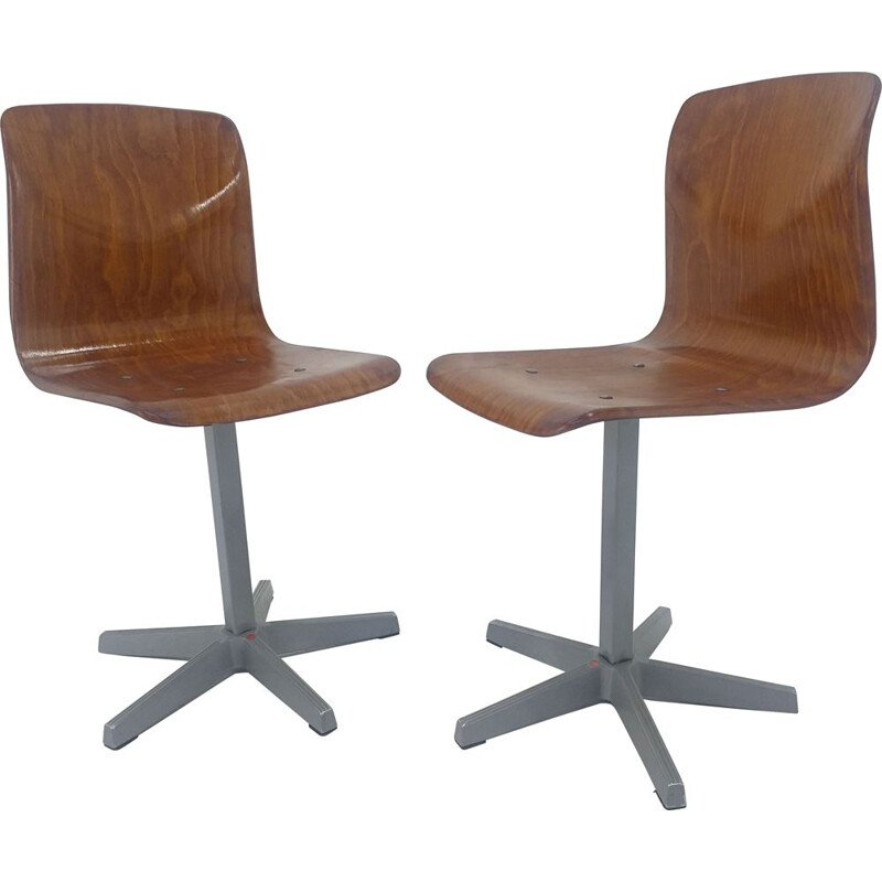 Pair of mid century child's chairs Pagholz, Germany 1970s