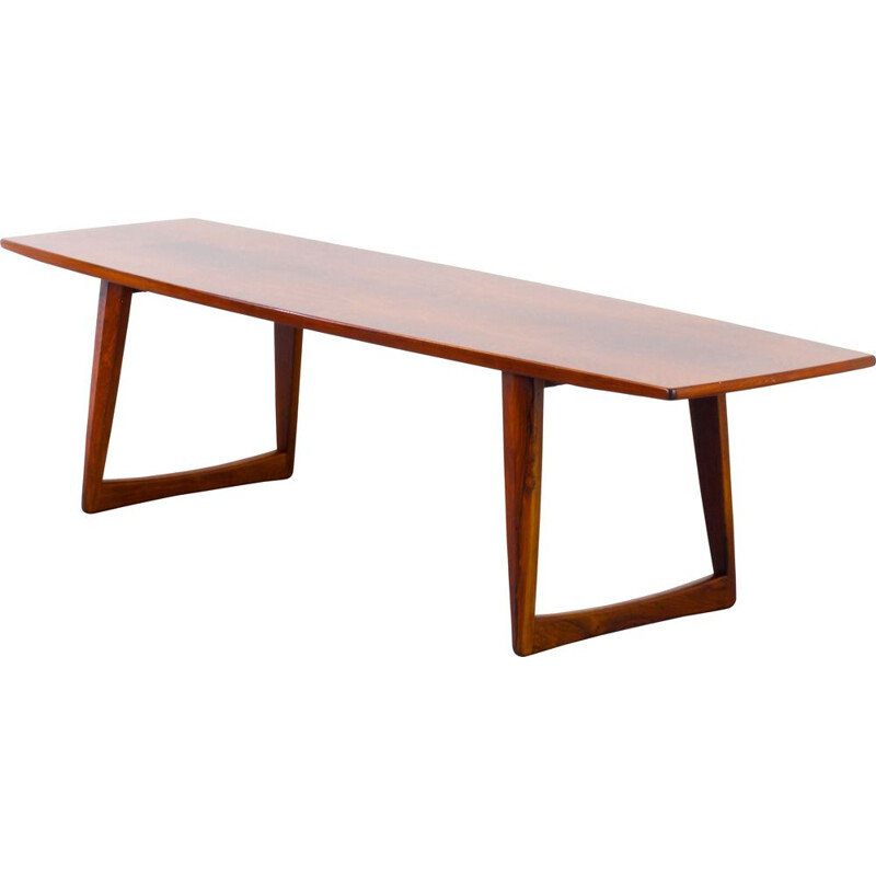 Vintage coffee table in solid rosewood