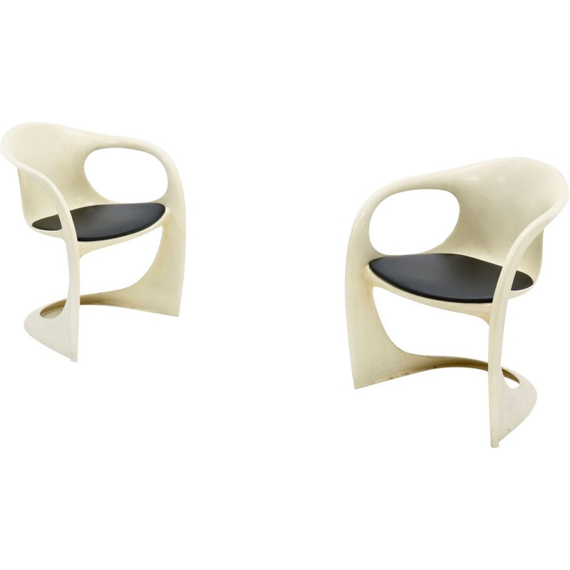 Pair of vintage Casalino chairs by Alexander Begge for Casala, 1974