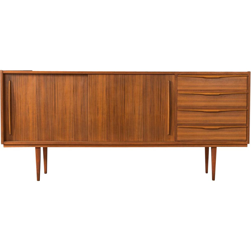 Mid century walnut sideboard with two sliding doors, Germany 1960s