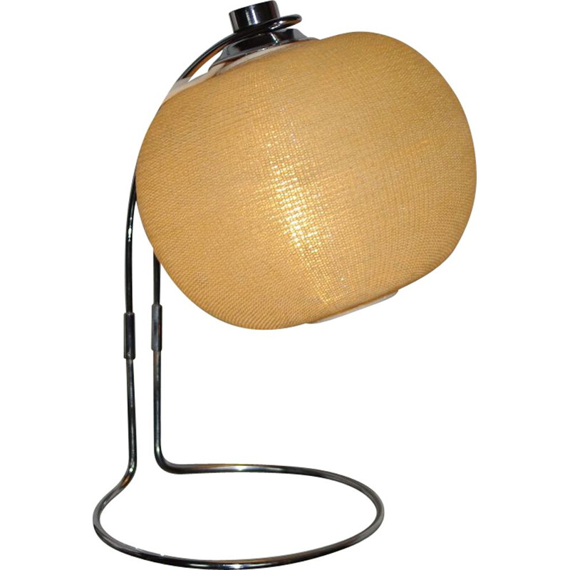 Vintage perspex and steel wire night stand lamp, 1970
