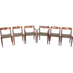 Set of Bramin dining chairs and table in rosewood, Henry W. KLEIN - 1960s
