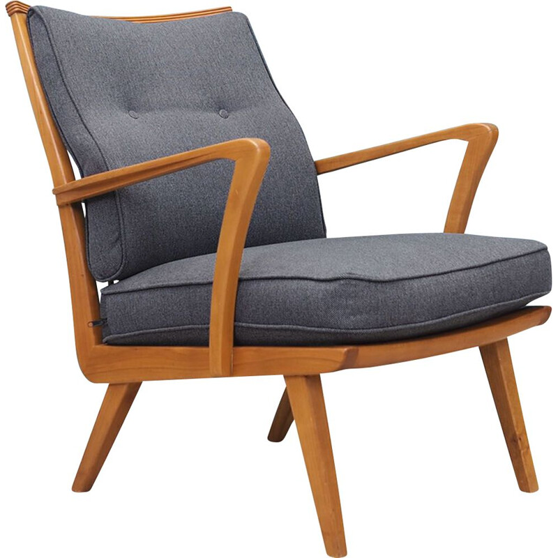 Vintage German cherry armchair by Walter Knoll for Knoll Antimott, 1960s