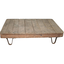 Mid century modern industrial coffee table - 1950s