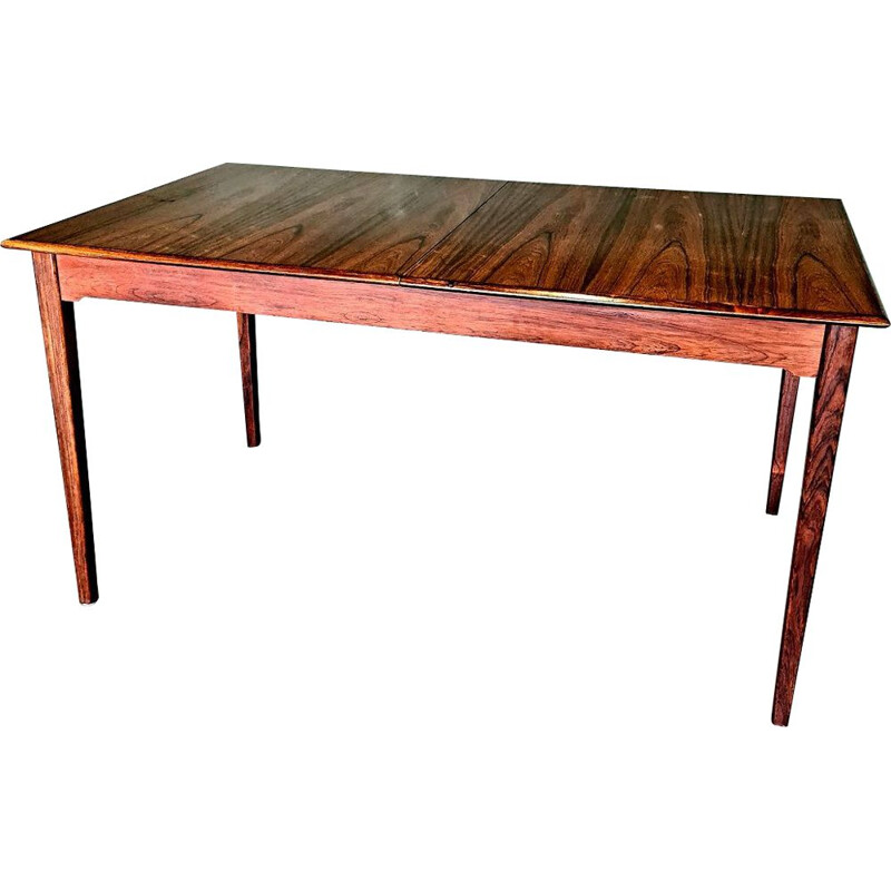 Vintage rosewood extendable dining table, 1960s