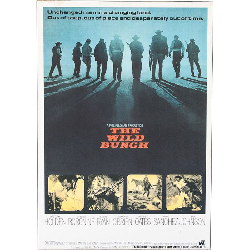 """Vintage poster of the film """"The Wild Bunch"""" by Sam Peckinpah, 1970"""