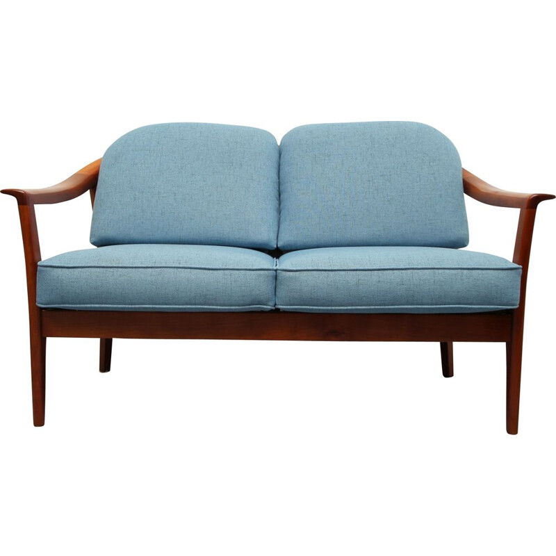 Vintage 2-seater sofa in cherrywood by Wilhelm Knoll, 1960s