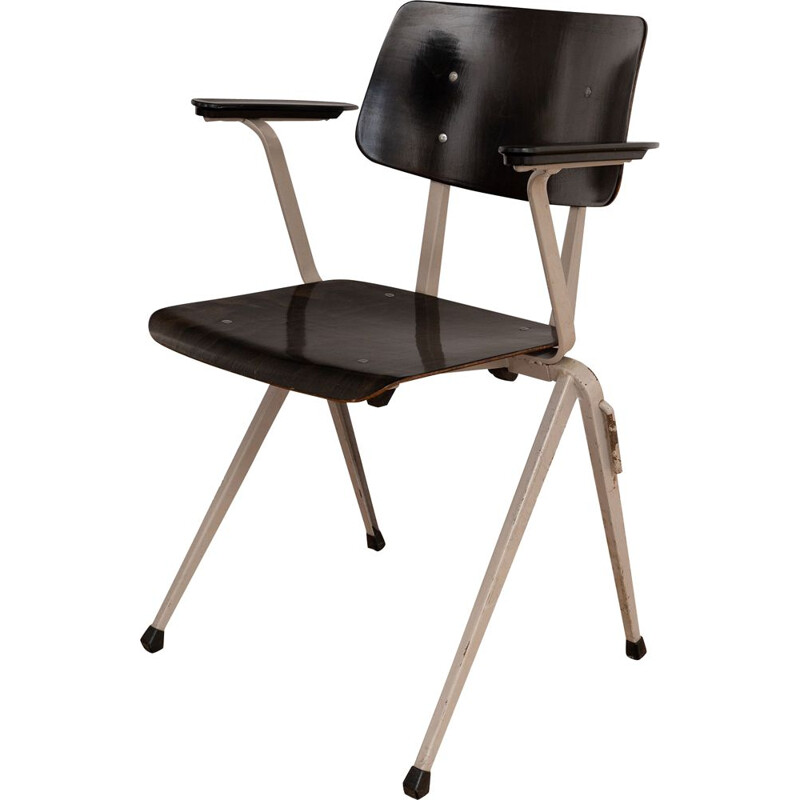 S17 industrial chair with armrests by Galvanitas