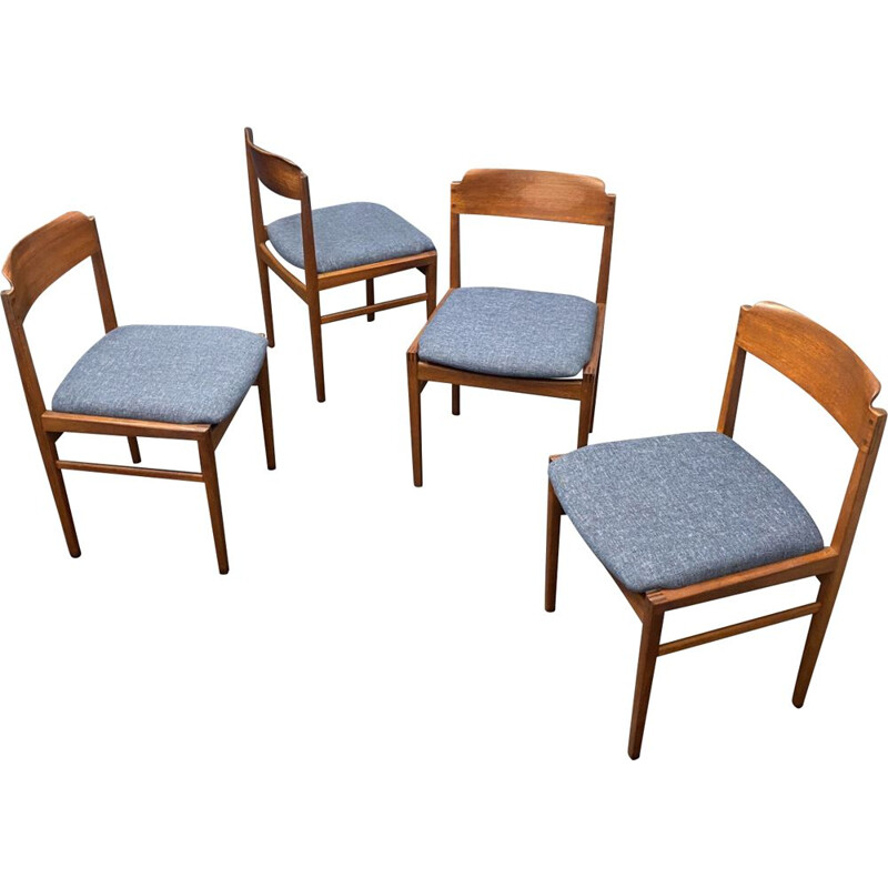 Set of 4 vintage dining chairs, Denmark 1960s