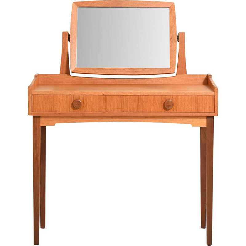 Vintage Scandinavian dressing table with two drawers