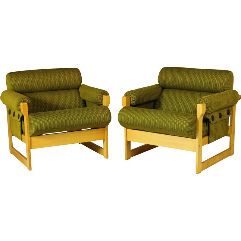 Pair of vintage armchairs by Hikor for Ikea, 1970s