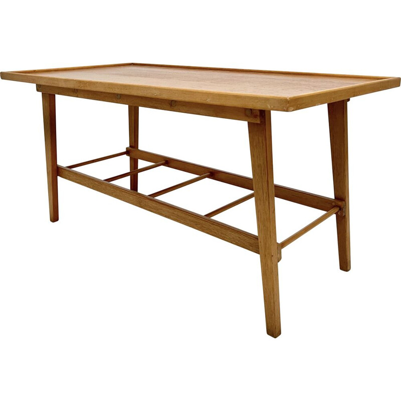 Vintage coffee table with shelf, 1960-1970