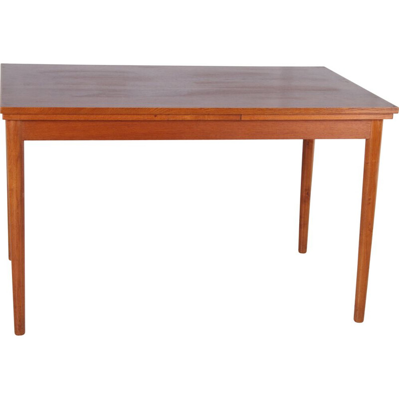 Vintage Danish teak dining table with pull-out top, 1960