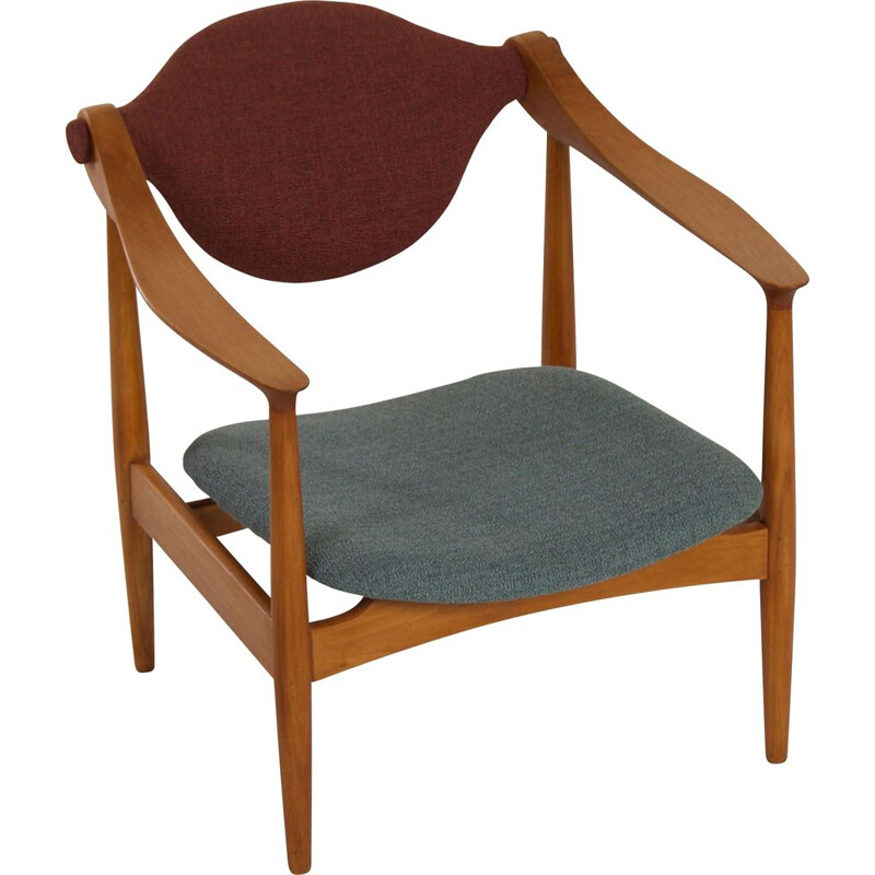 Danish vintage armchair made of pear wood, 1960s