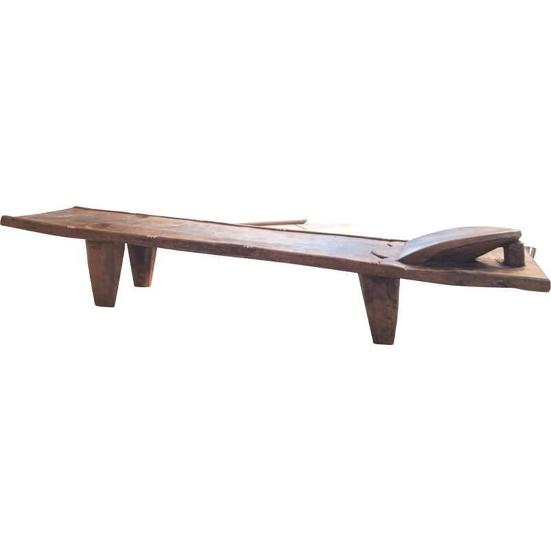 Vintage Senufo daybed in solid wood