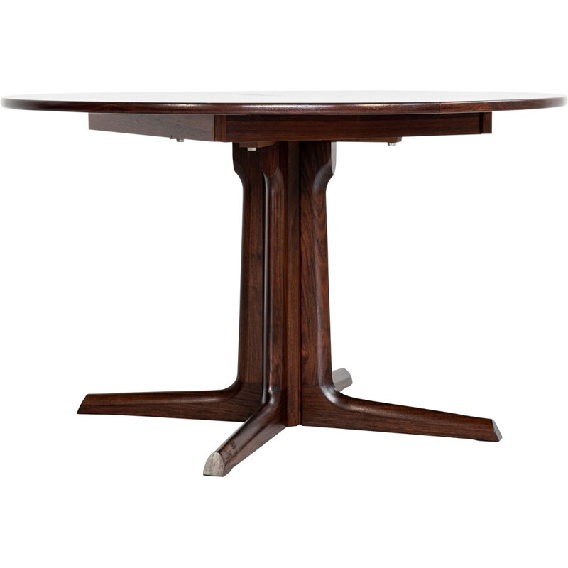 Mid century Danish round dining table in rosewood, 1960s