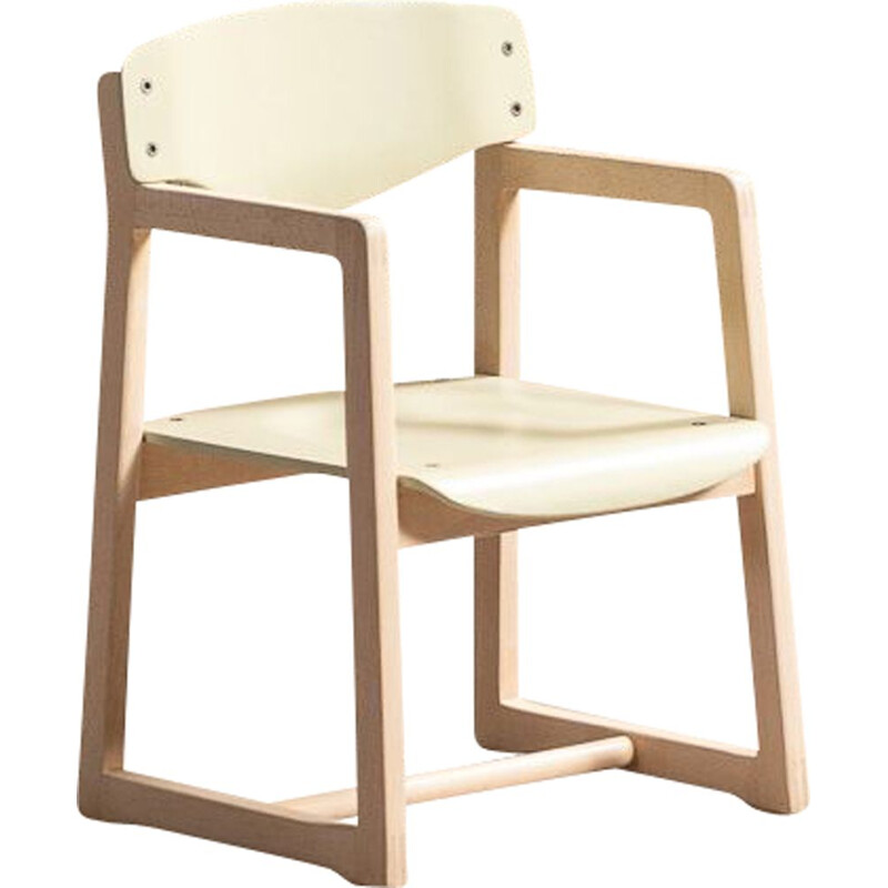 Vintage children's chair with armrests