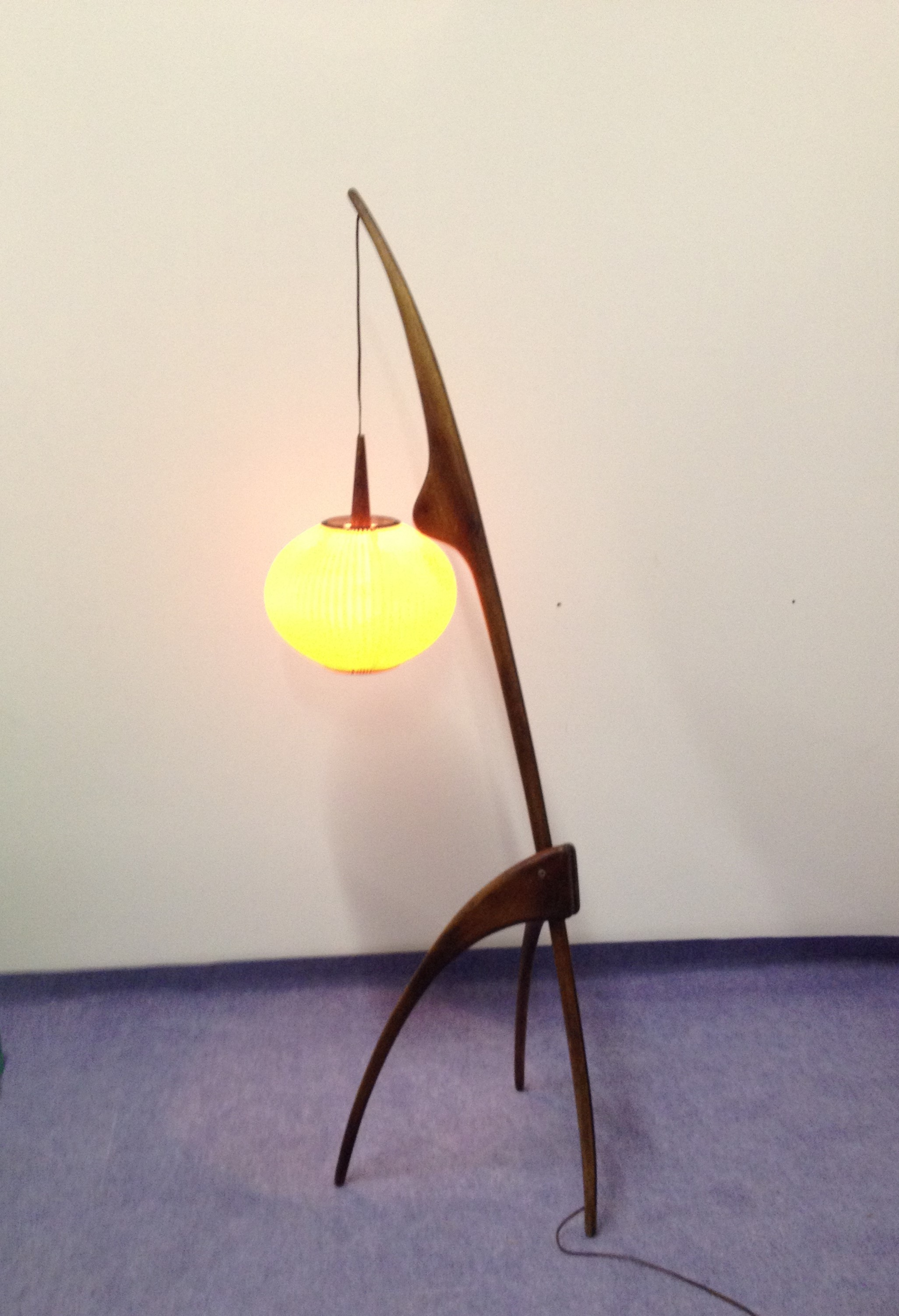 floor lamp praying mantis jean rispal 1950s design market. Black Bedroom Furniture Sets. Home Design Ideas