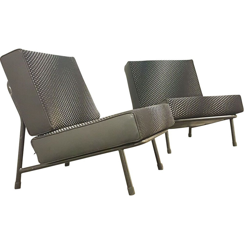 Pair of vintage armchairs by Alf Svensson for Dux, Sweden 1960s