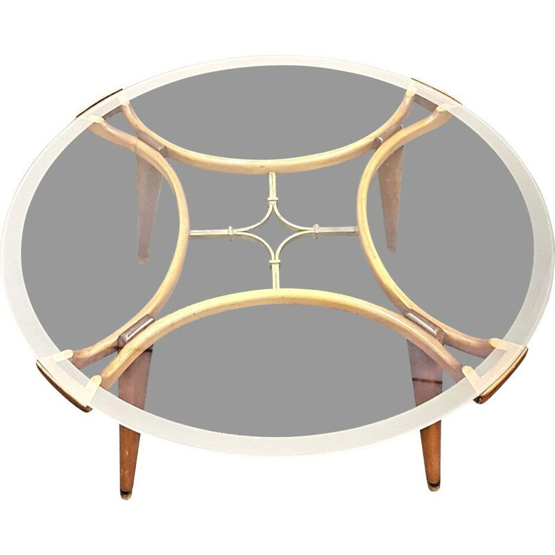 Art Deco vintage Acrilan coffee table by William Watting for Fristho Franeker, 1950s