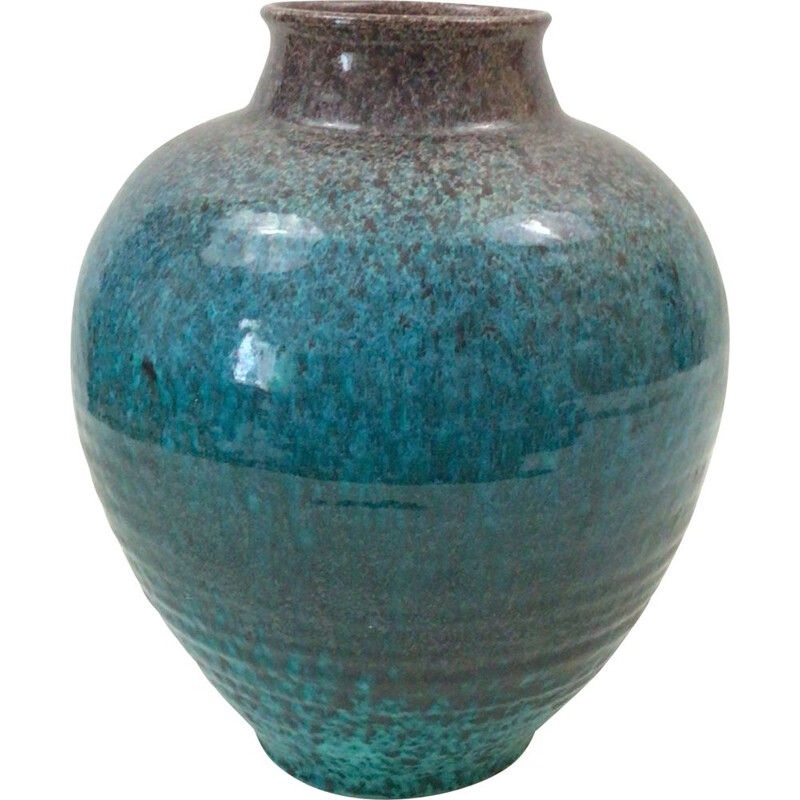 Vintage ceramic vase from Accolay, 1960-1970