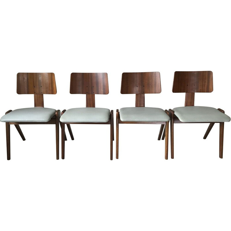 Set of 4 vintage Hillestack chairs by Robin Day for Hill International, 1970