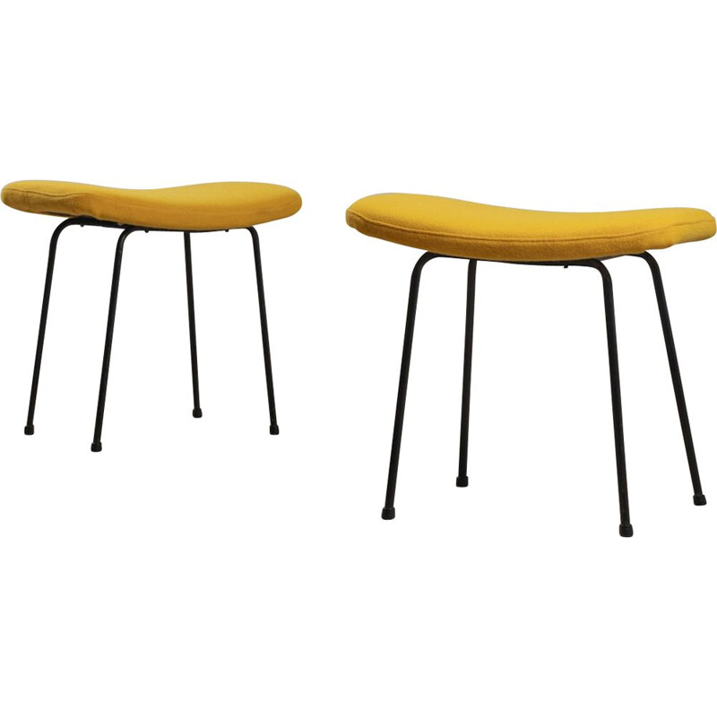 Pair of vintage stools by Pierre Paulin for thonet, 1956