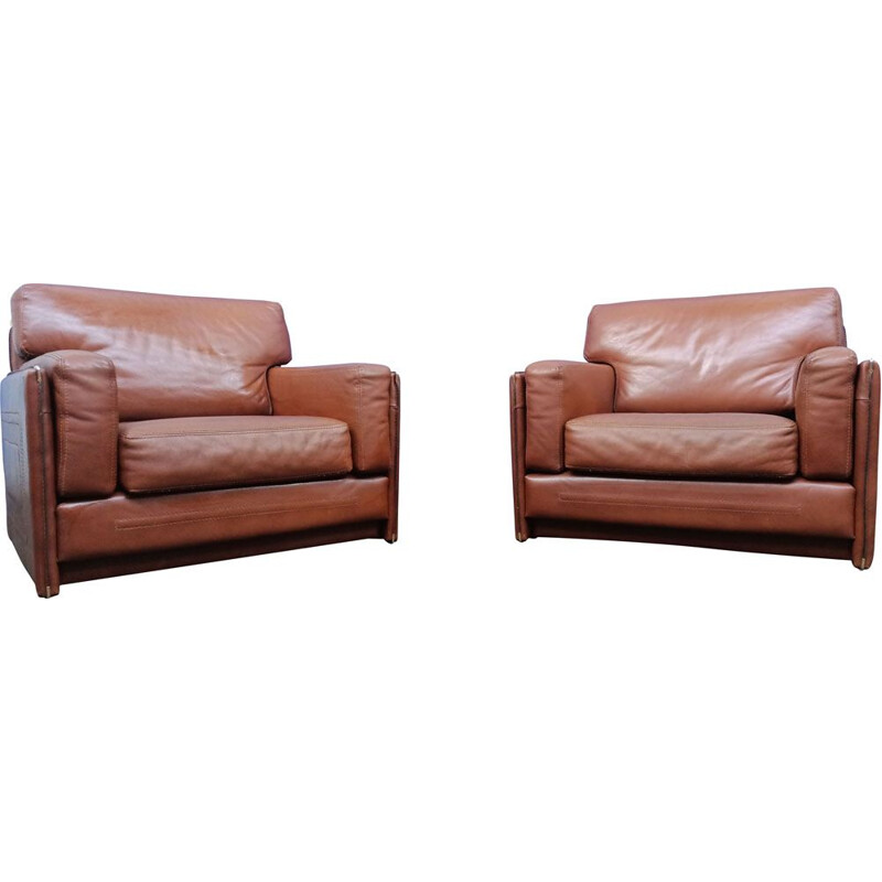 Pair of vintage armchairs by Baxter Miami