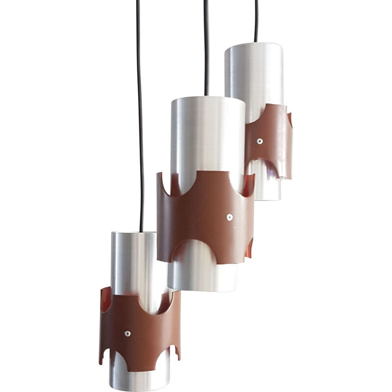 Vintage pendant lamp with 3 lights, 1960s