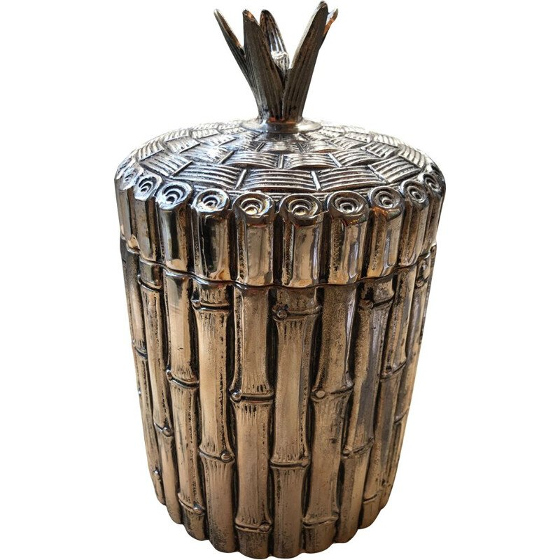 Vintage bamboo ice bucket by Mauro Manetti, 1970