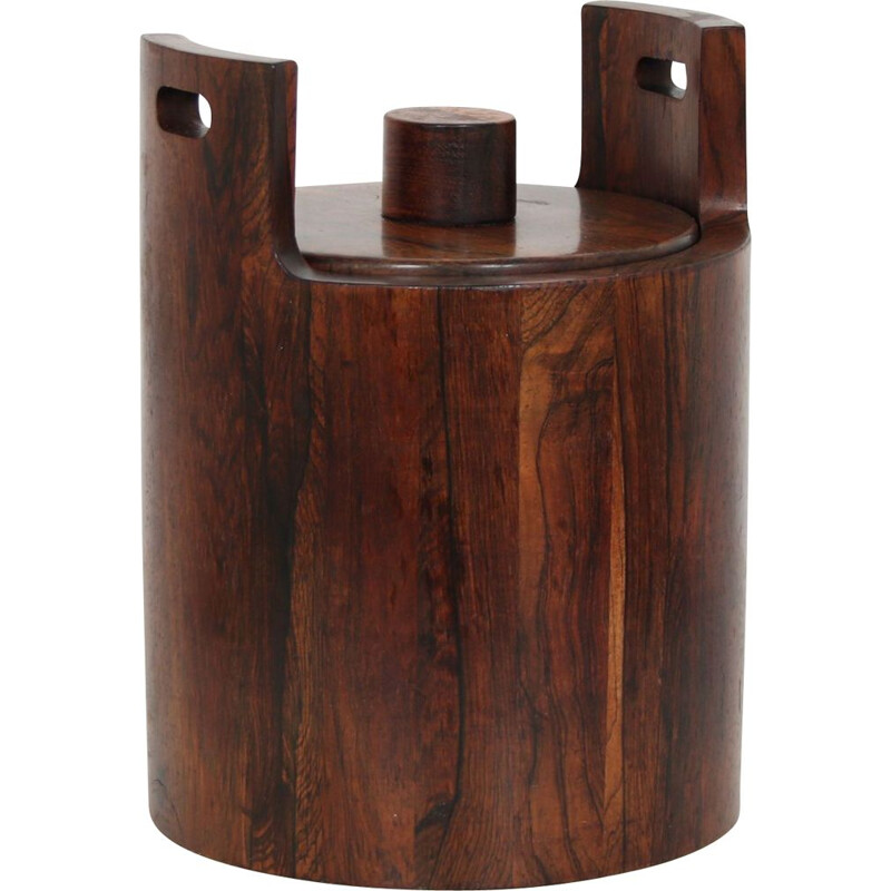 Vintage wooden ice bucket by Jean Gillon, Brazil 1960s