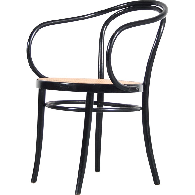Vintage bentwooden chair by Le Corbusier for Thonet, France 1940s
