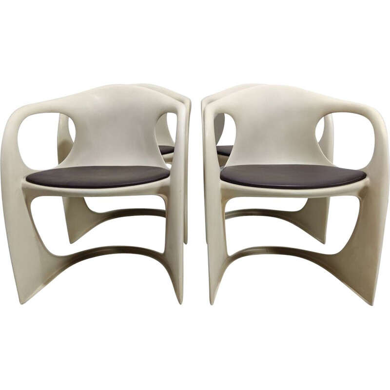 Set of 4 vintage Casala armchairs by Alexander Begge, Germany 1974