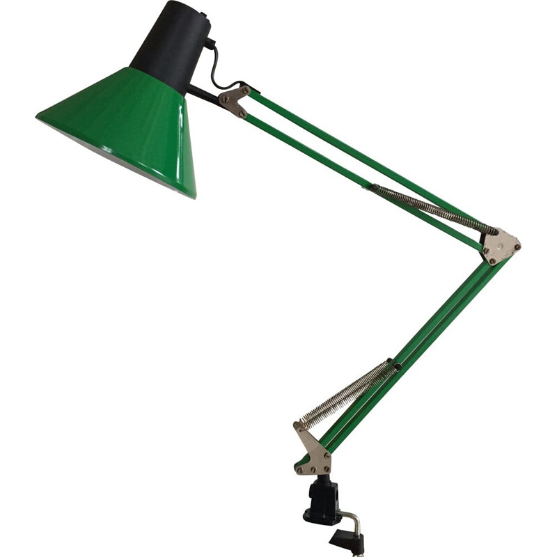 Green industrial architect lamp