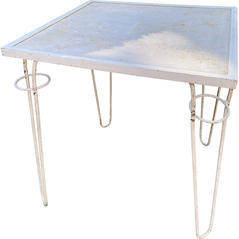 Patio vintage table by Mathieu Mategot, 1950