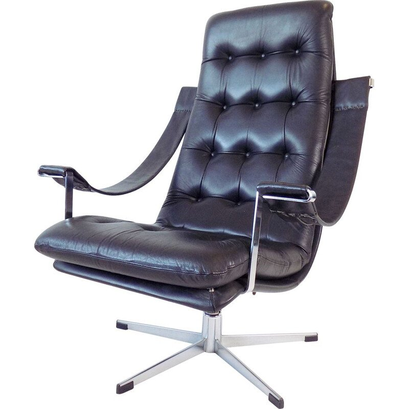 Vintage leather armchair by Geoffrey Harcourt for Artifort, 1960