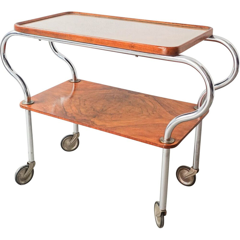 French Art Deco vintage two tiered tea-trolley, 1930s