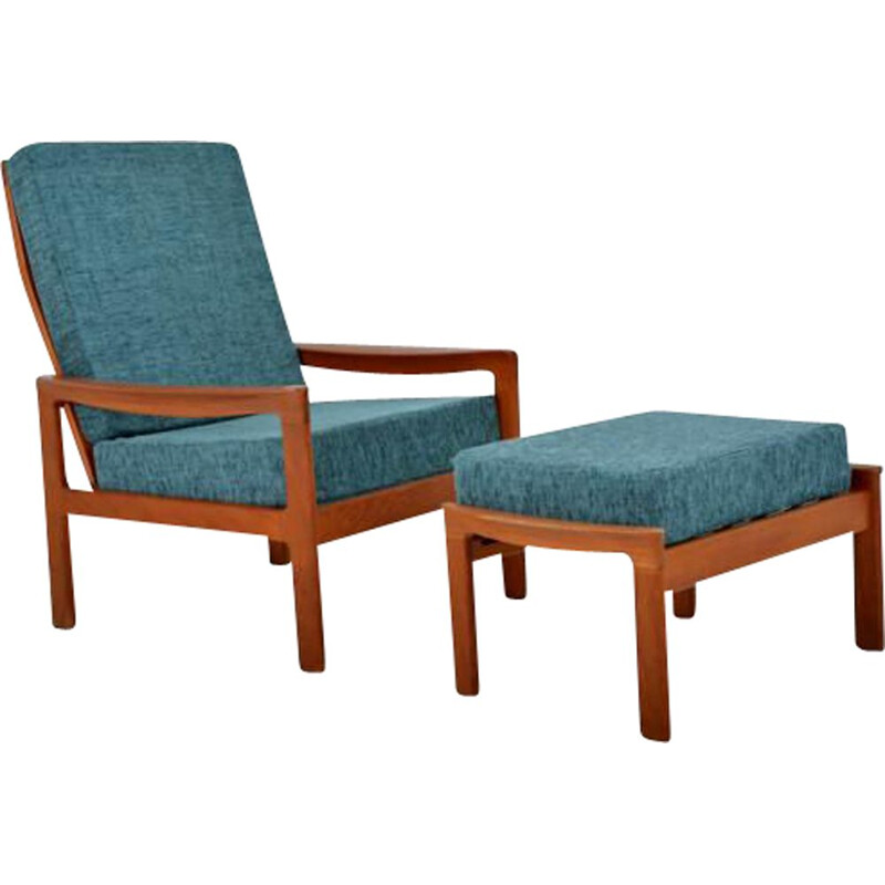 Vintage armchair with ottoman by Arne Wahl Iversen for Komfort, 1960s