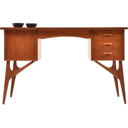 Mid century Danish organic desk in teak - 1950s