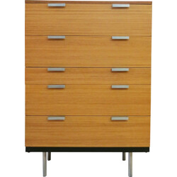 Stag chest of drawers with 5 drawers, John & Sylvia REID - 1960s