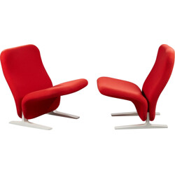 "Pair of ""Condorde F780"" armchairs, Pierre PAULIN - 1960s"