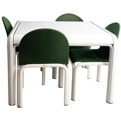 Set of Knoll table and 4 chairs, Gae AULENTI - 1970s