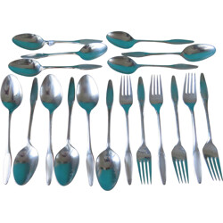 Set of utensils in silver coloured metal - 1960s