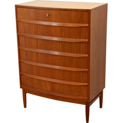 Danish bow-fronted chest of drawers - 1960s