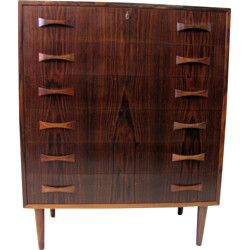 Danish chest of drawers in rosewood with key - 1960s
