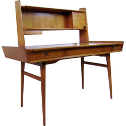 Italian desk in cherry wood with mirror - 1950s