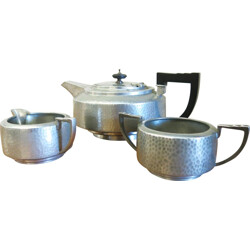 Vintage English tea set in metal and bakelite - 1940s