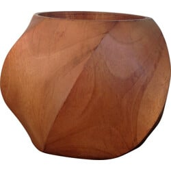 Blond wood pot - 1970s